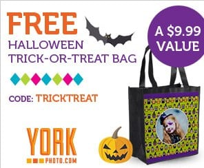York Photo Free Halloween Treat Bag
