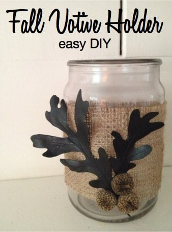 Fall Votive Holder Easy DIY