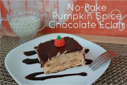 No Bake Pumpkin Spice Chocolate Eclair Recipe