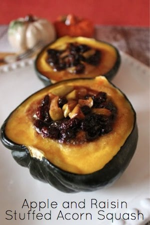Recipe for Apple and Raisin Stuffed Acorn Squash