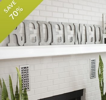 Redeemed Wooden Letters