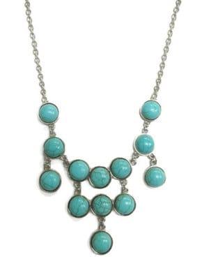 Sophia Turquoise Stone Drop Necklace
