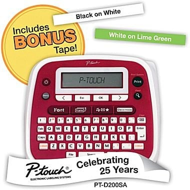 Brother P-touch Label Maker with Bonus Tape