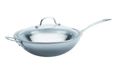 Calphalon Tri-Ply Stainless Steel 12_ Stir Fry & Cover
