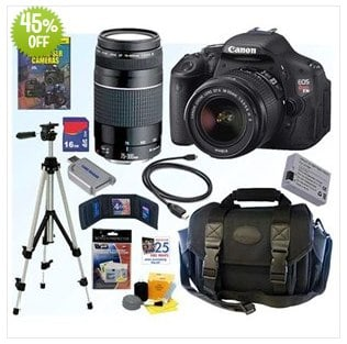 Canon EOS Digital Rebel T3i SLR Camera Bundle