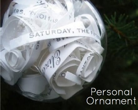 Easy craft to make a personal ornament.