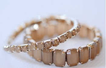 Jade jewel stretch bracelets *more colors* — Cents Of Style