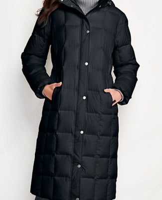 Women_s Down Chalet Long Coat from Lands_ End