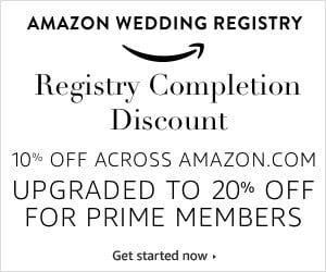 Amazon Wedding Registry Discount