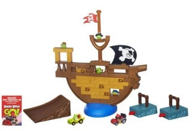 Angry Birds Go! Jenga Pirate Pig Attack Game_ Toys & Games