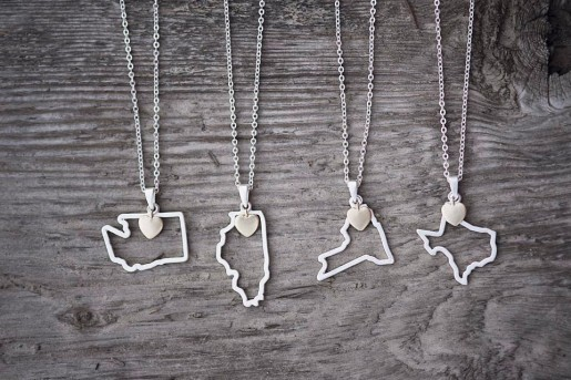 Custom State Necklaces