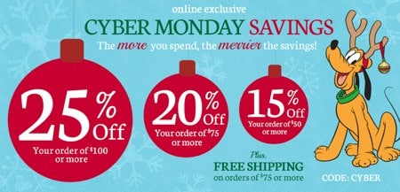 Disney Store Cyber Monday Deals
