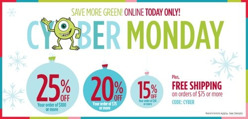Disney Store Cyber Monday Sales