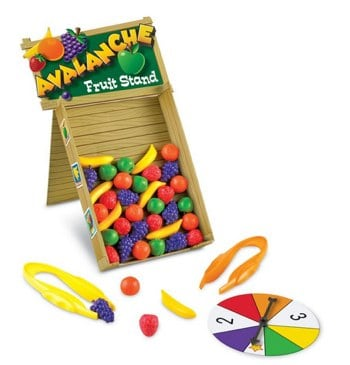 Learning Resources Avalanche Fruit Stand Game_ Toys & Games