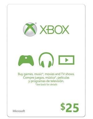 Microsoft $25 Xbox Gift Card