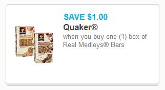 Quaker Real Medley Bars