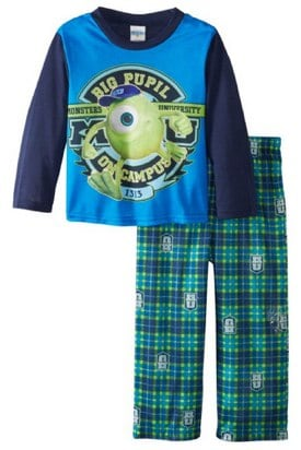 AME Sleepwear Boys 2-7 Monsters U 2 Piece Sleep Se