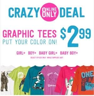 Crazy 8 Graphic Tee Sale