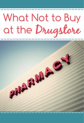 What Not to Buy at the Drugstores