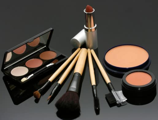 Cosmetics Set Including Lipstick Eye Shadow And Blusher