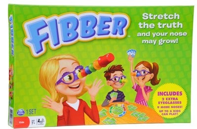 Fibber Board Game with Bonus Items _ Toys & Games