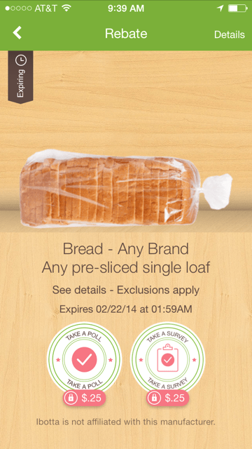 Ibotta Bread Offer