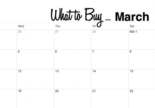 What to Buy for Sales in March