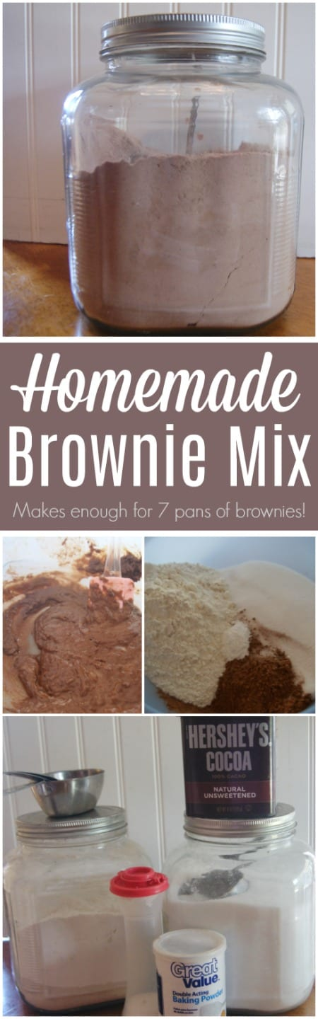 Mix up a batch of this homemade Brownie Mix and you'll have enough for 7 pans of brownies!