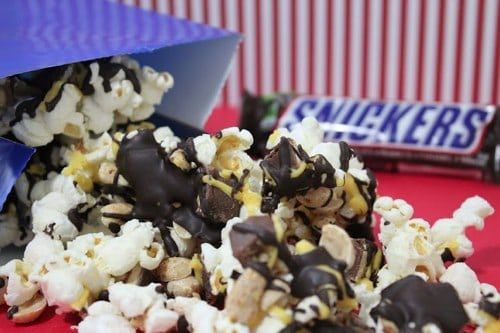 Making Snickers Flavored Popcorn