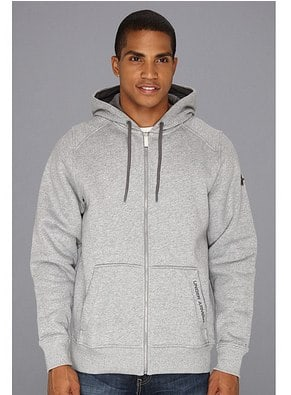 Under Armour UA Charged Cotton® Storm Full-Zip Hoodie True Gray Heather_Steel - 6pm.com