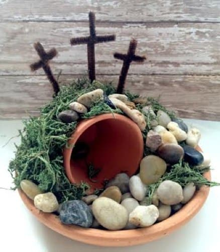 Easter Empty Tomb Centerpiece