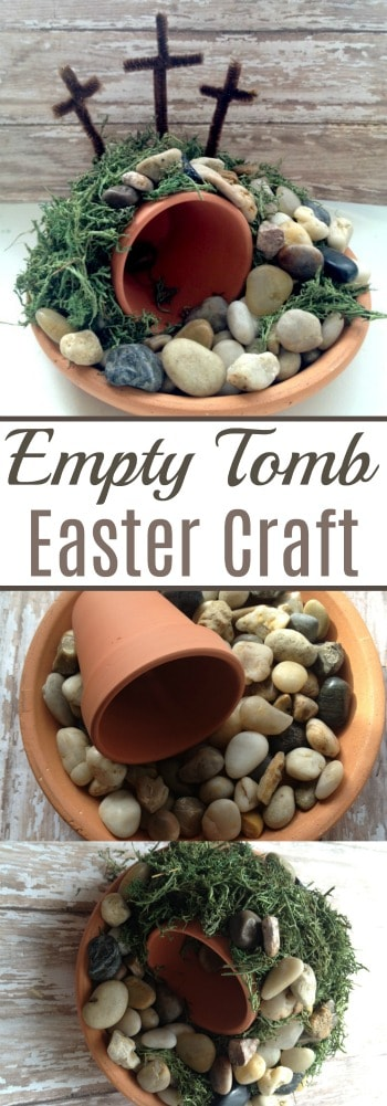 You only need a handful of dollar store supplies to make this Empty Tomb Easter Craft with your kids! What a great way to share the resurrection story!