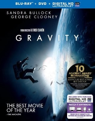 Gravity Blu-Ray DVD HD Combo