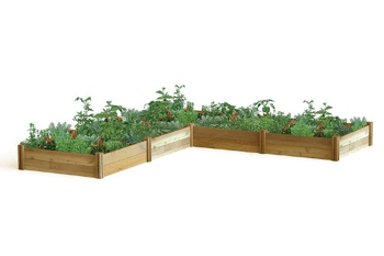 Gronomics L-Shaped Modular Raised Garden Bed