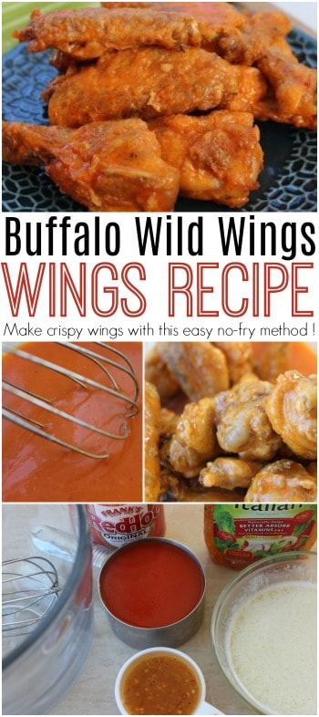 Make crispy wings with this easy no-fry method. Tastes just like the medium traditional wings at Buffalo Wild Wings!