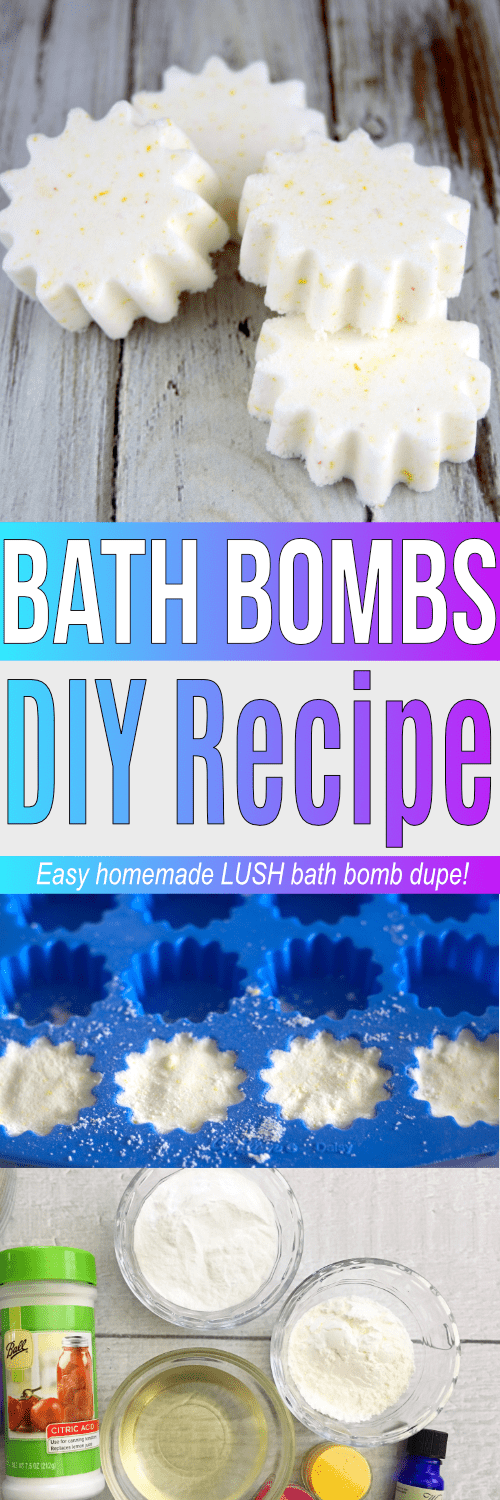 This easy DIY bath bombs recipe will remind you of LUSH bath bombs! If you want to know how to make bath bombs easy and essential oil combinations for bath bombs, this basic bath bomb recipe is it!
