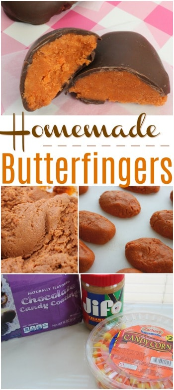 You only need 3 ingredients to make these Homemade Butterfinger Candy Bars!
