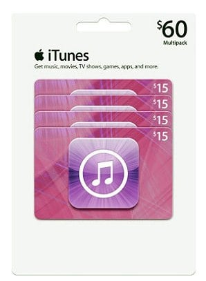 iTunes Gift Card Multipack Deal