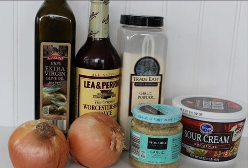Ingredients for Onion Dip from Scratch