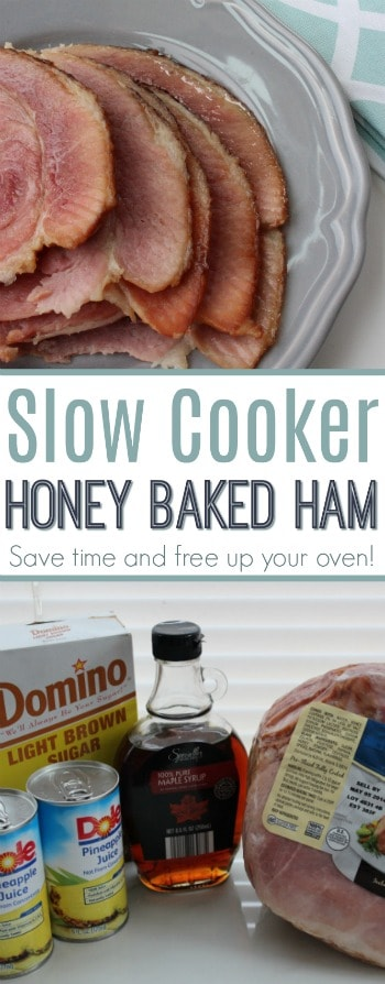 Save time in the kitchen and free up your oven with this slow cooker Honey Baked Ham recipe!
