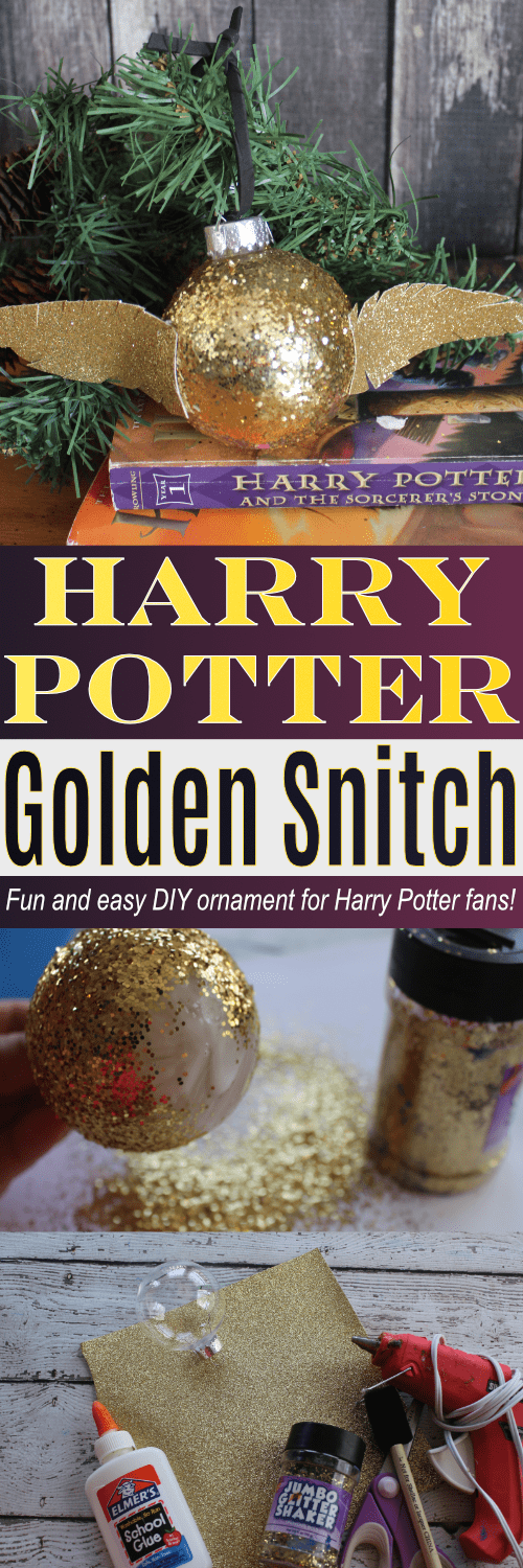 Easy DIY for the Golden Snitch from the Harry Potter series!