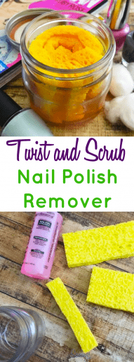 DIY Twist and Scrub Nail Polish Remover Tutorial