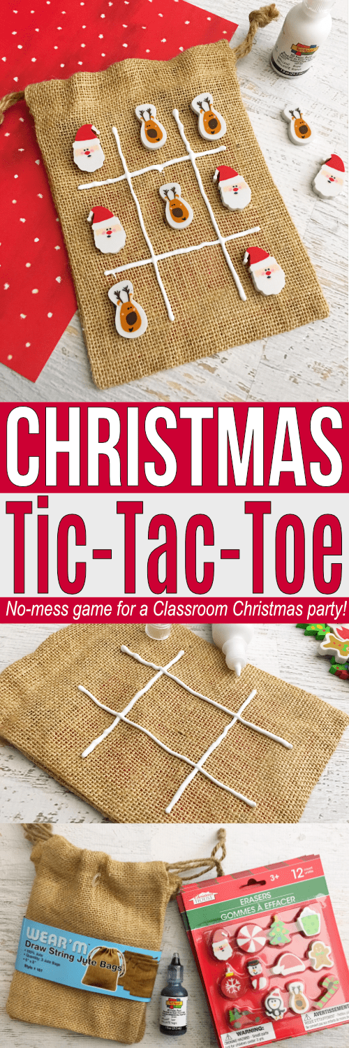 No-Mess school Christmas party game! This Tic-Tac-Toe game is easy to prepare for the entire class!