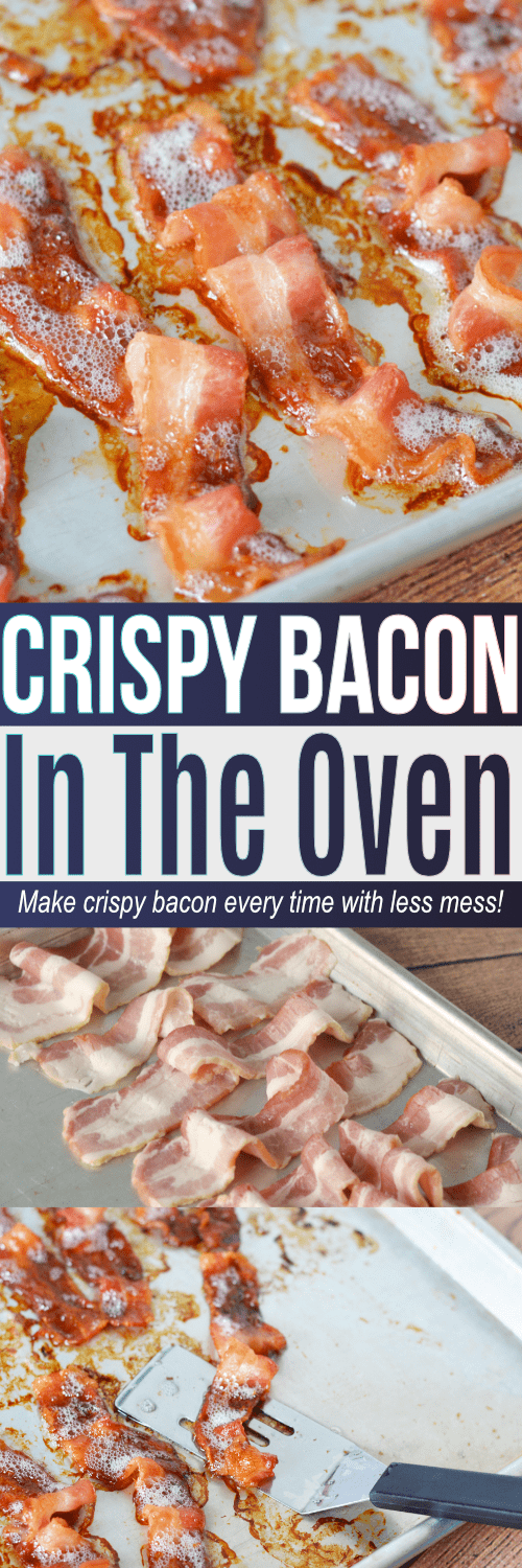 How to make bacon in the oven including what temp to bake bacon so it comes out perfect every single time! This oven bacon recipe makes for a fast and easy cleanup too!