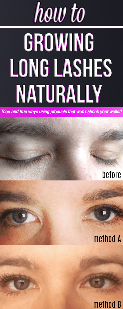Grow long lashes naturally fast with these products! If want longer eyelashes, these methods truly work better than any expensive serums!