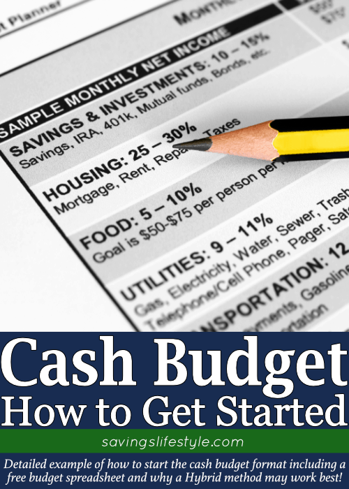Cash budget is more easily done with this cash budget format! Use this cash budget example, along with free budgeting spreadsheet, to avoid cash budget problems!