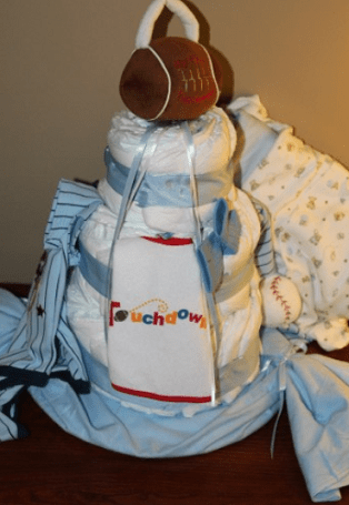 Baby Shower Gift Ideas: Diaper Cakes DIY