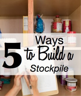 How to Build a Grocery Stockpile