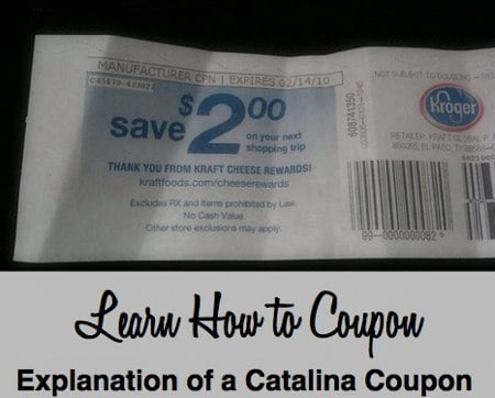 Explanation of a Catalina Coupon
