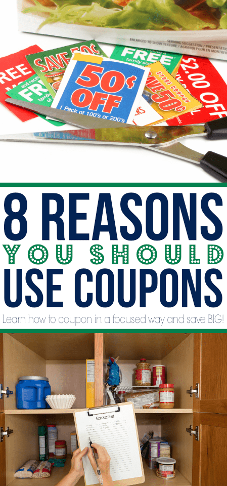 You can save BIG using coupons! Find 8 solid reasons for why you can - and should - be using coupons even still today!